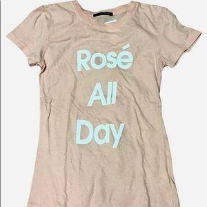 Wildfox Pink Rosé All Day T-Shirt